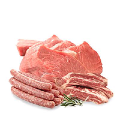 Мясо охлажденное, колбаски (говядина, свинина, субпродукты)