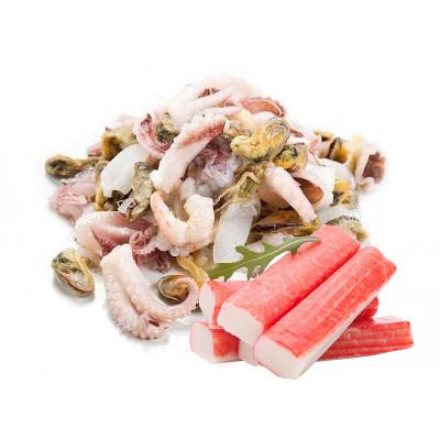 Крабовые палочки, мясо, морепродукты замороженные
