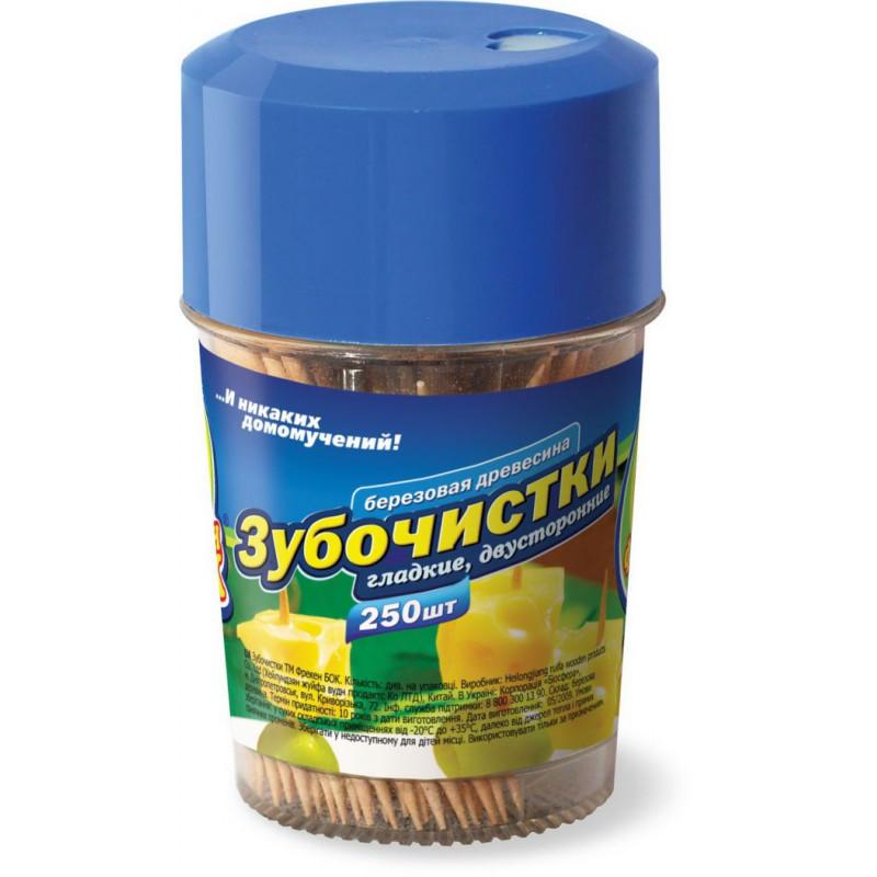 Зубочистки деревяные Фрекен БОК в тубусе, в упаковке 250шт.