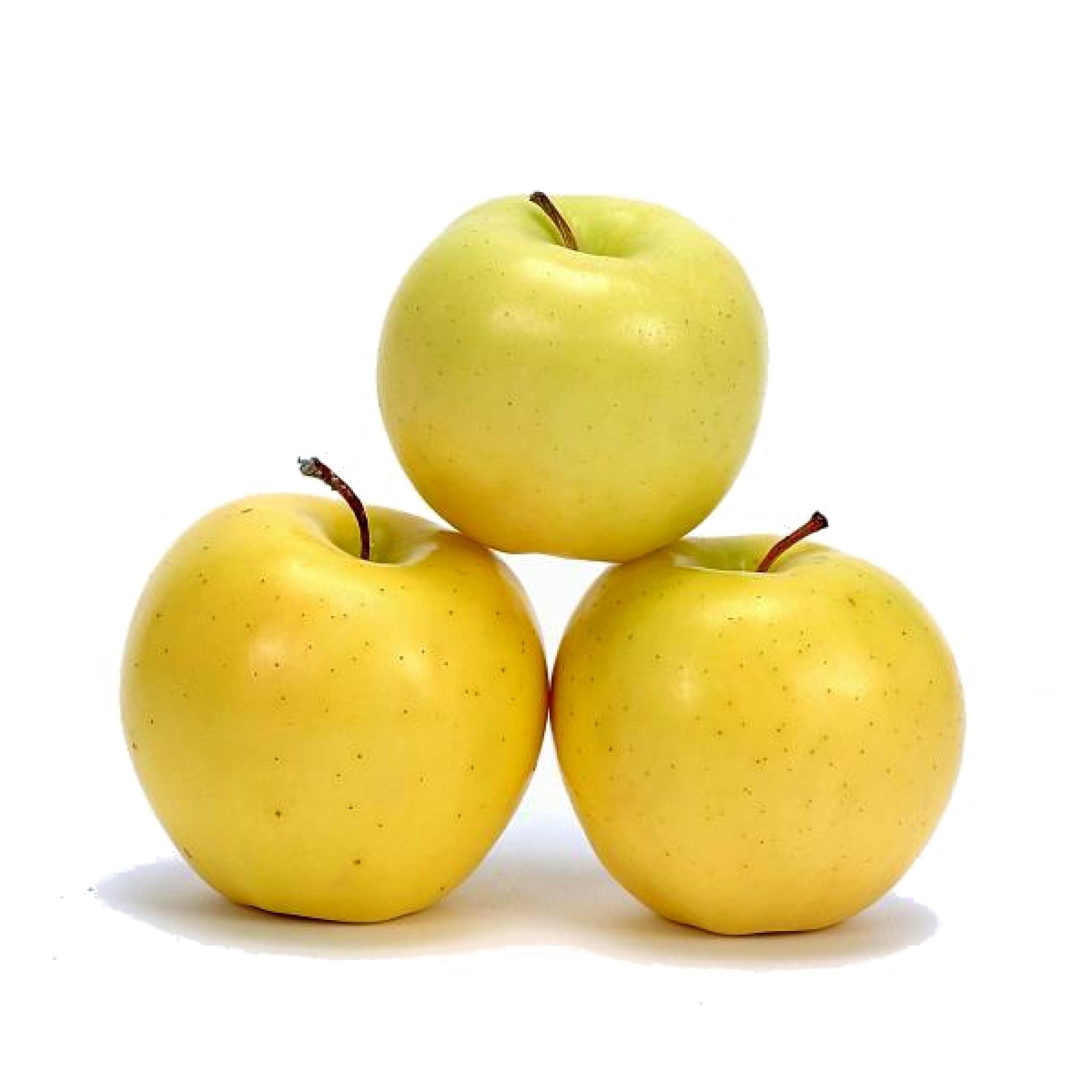 Яблоки свежие весовые Голден (желтые), средний вес 1, 2 кг