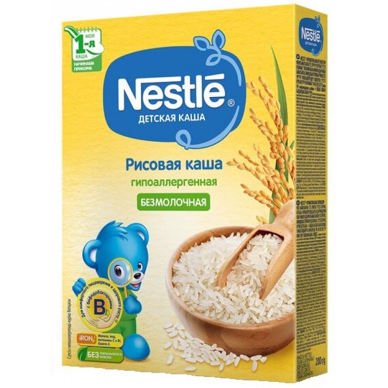 Каша безмолочная Nestle рисовая для детей с 4-х месяцев, 200 гр