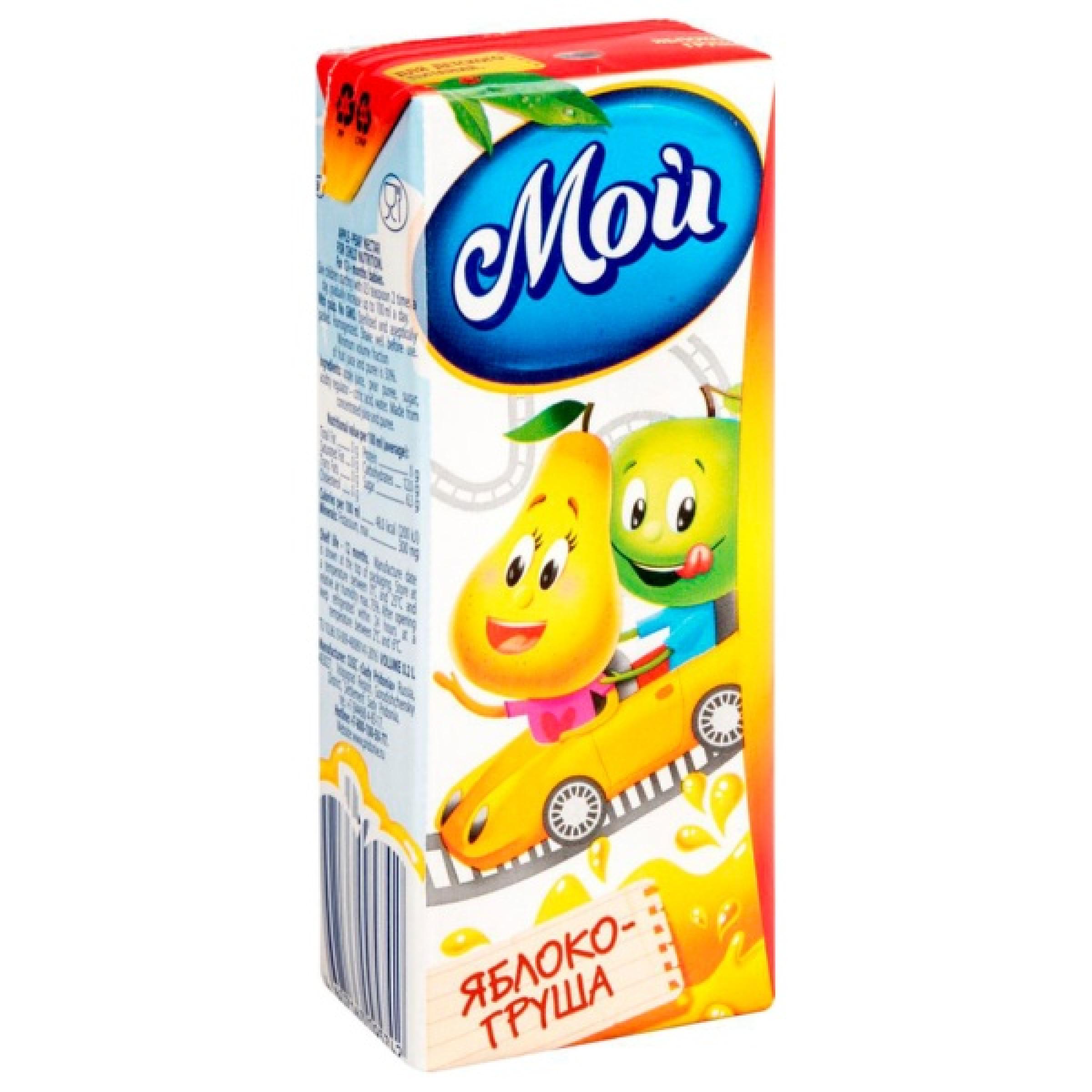 """Нектар """" Мой """" Яблоко - Груша с мякотью для детей с 12 месяцев, 0,2л"""