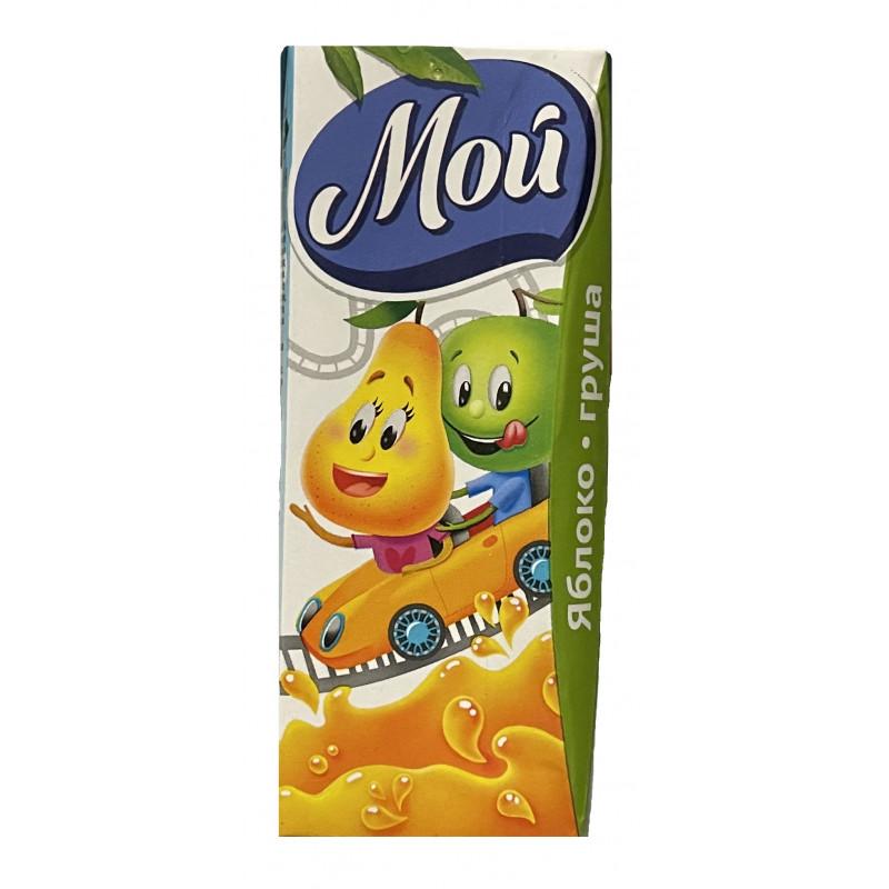 """Нектар """" Мой """" Яблоко - Груша с мякотью для детей с 12 месяцев, 0, 2л"""