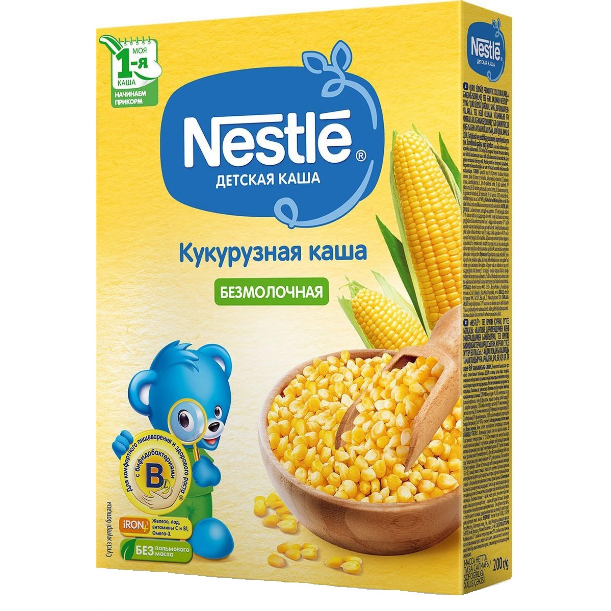Каша безмолочная Nestle кукуруза для детей старше 5 месяцев 1-я ступень, 200 г