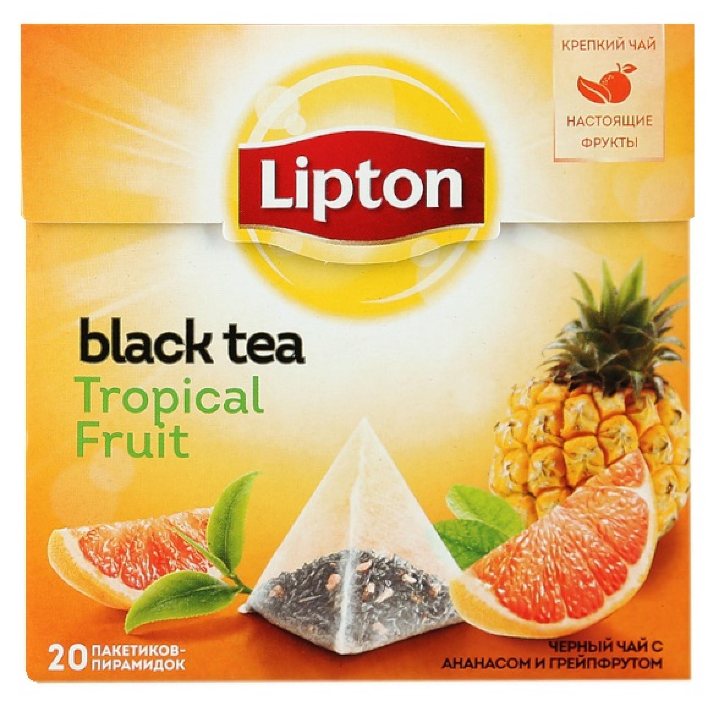 Чай фруктовый Lipton Tropical Fruit пирамидки, 20пак*36гр