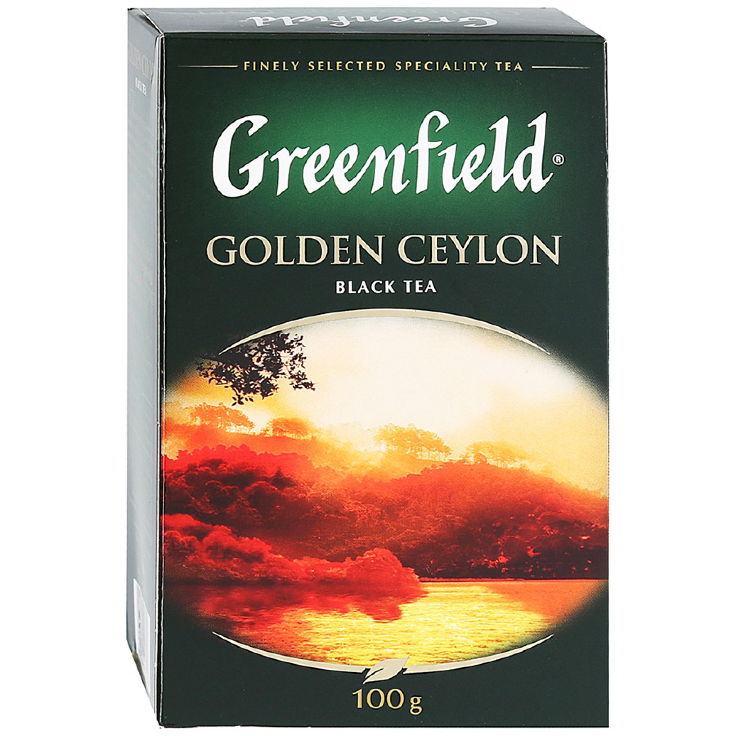 Чай черный Greenfield Golden Ceylon цейлонский листовой, 100гр