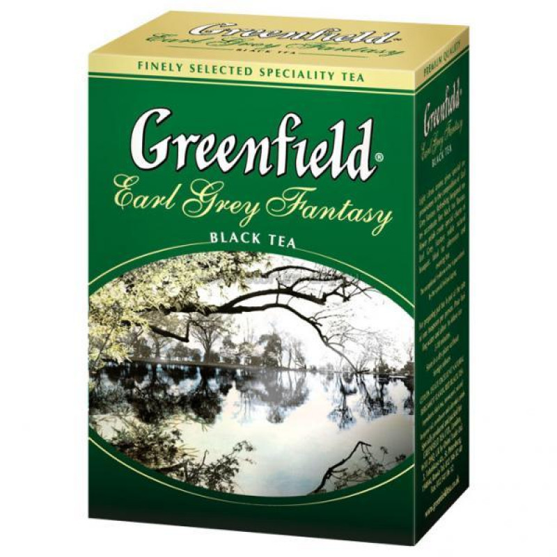 Чай черный Greenfield Earl Grey Fantasy цейлонский листовой, 100гр