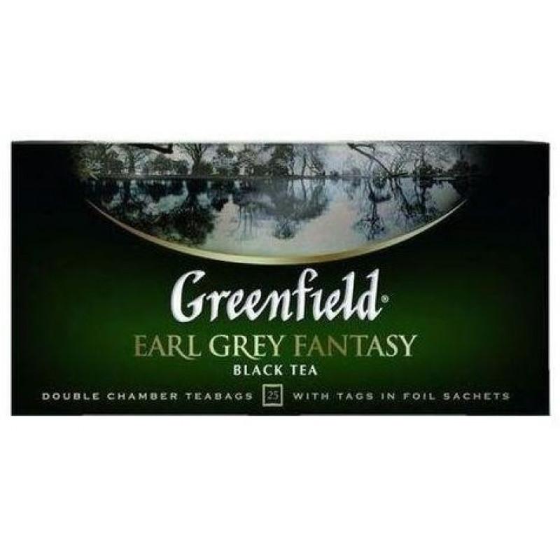 Чай черный Greenfield Earl Grey Fantasy цейлонский в пакетиках, 25пак*2г