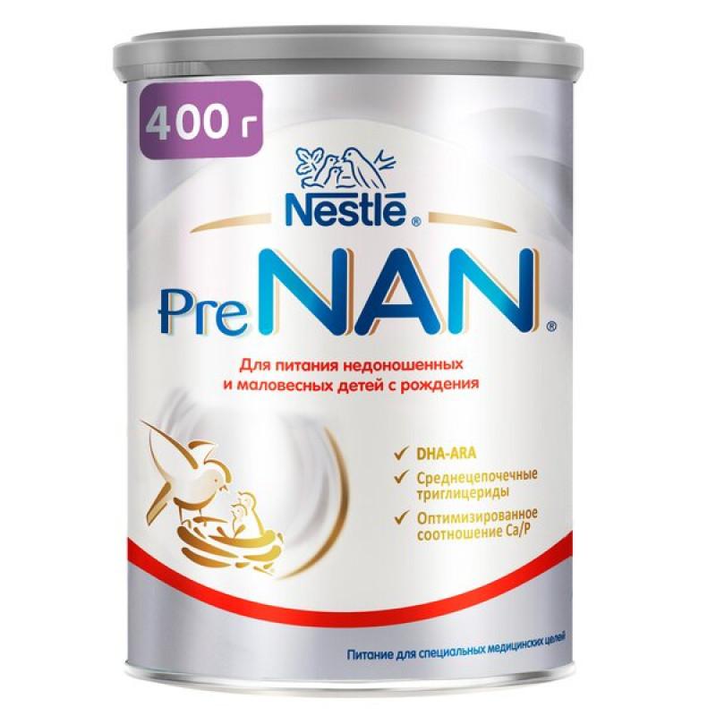 Смесь молочная Pre NAN Nestle для маловесных и недоношенных детей, 400 гр