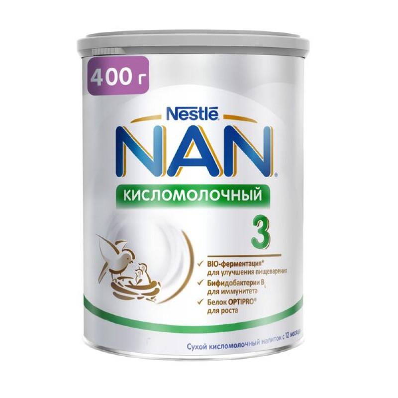 """Сухая смесь кисломолочная """"NAN 3"""", 400гр"""