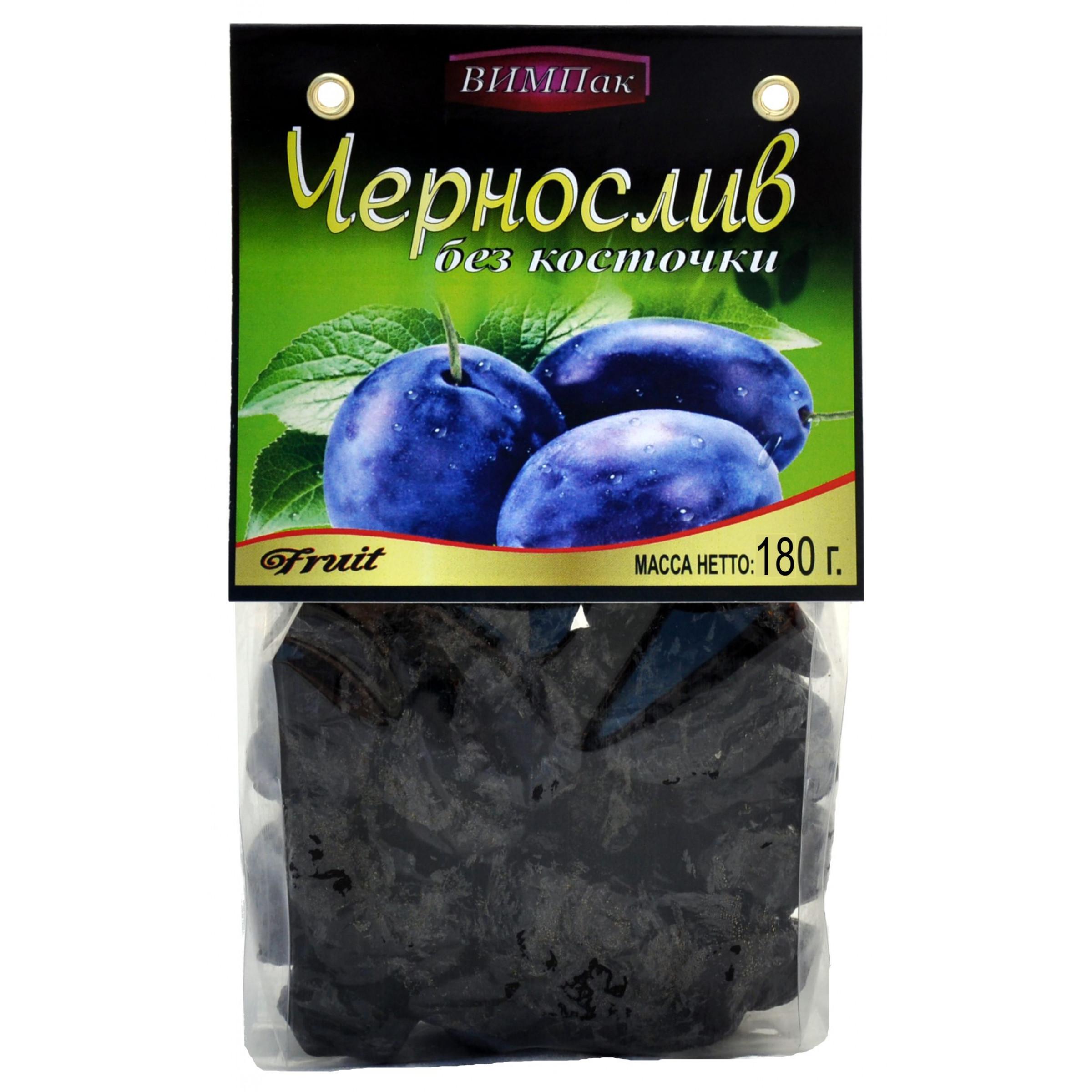 Сливы ( чернослив ) ВИМПак сушенные без косточек Автонов, 180гр