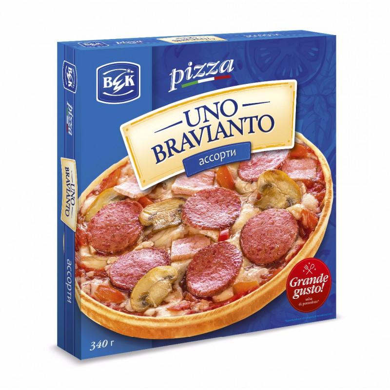 """Пицца """"UnoBravianto"""" ассорти в коробочке, 175гр"""