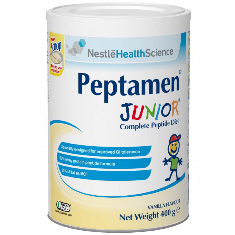 Сухая смесь PEPTAMEN Junior ACE002-1 (Пептамен Юниор) сбалансированная смесь для зондового и перорального питания для детей от 1 года до 10 лет, 400 гр