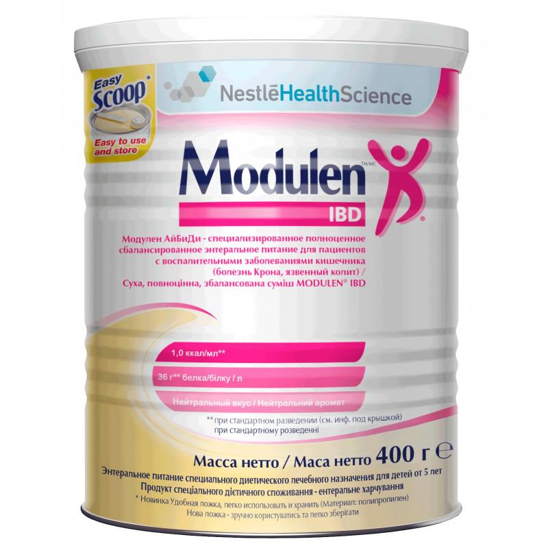 Сухая смесь MODULEN IBD (Модулен) сбалансированная на основе казеина (TGF-2). подходит как для перорального, так и зондового питания с 5 лет, 400 гр