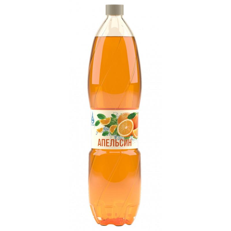 Напиток газированный АПЕЛЬСИН с натуральным соком, безалкогольный Аква-Юг, 2 л