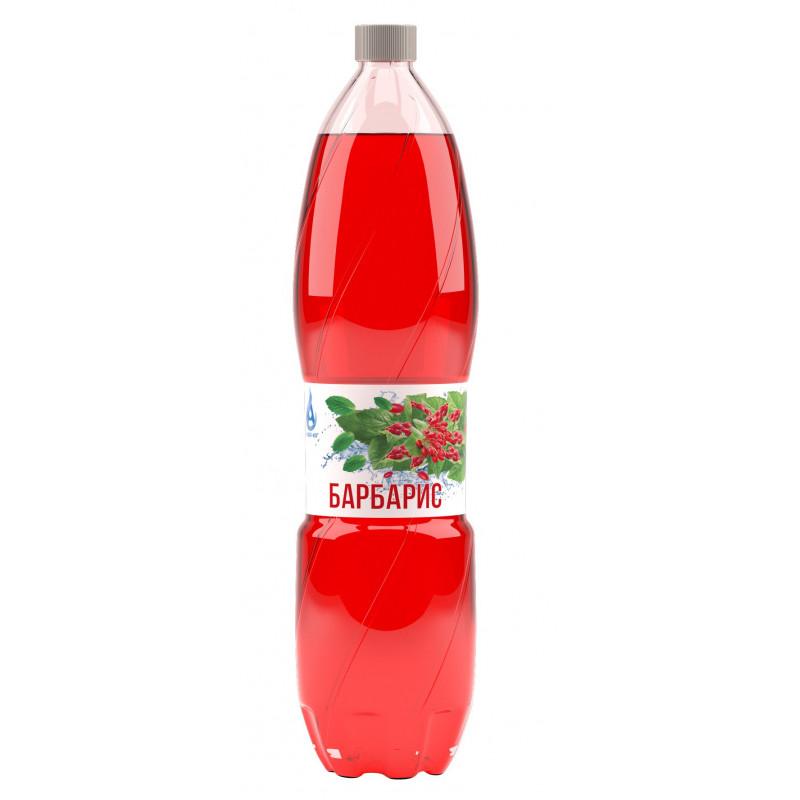 Напиток газированный БАРБАРИС с натуральным соком, безалкогольный Аква-Юг, 2 л