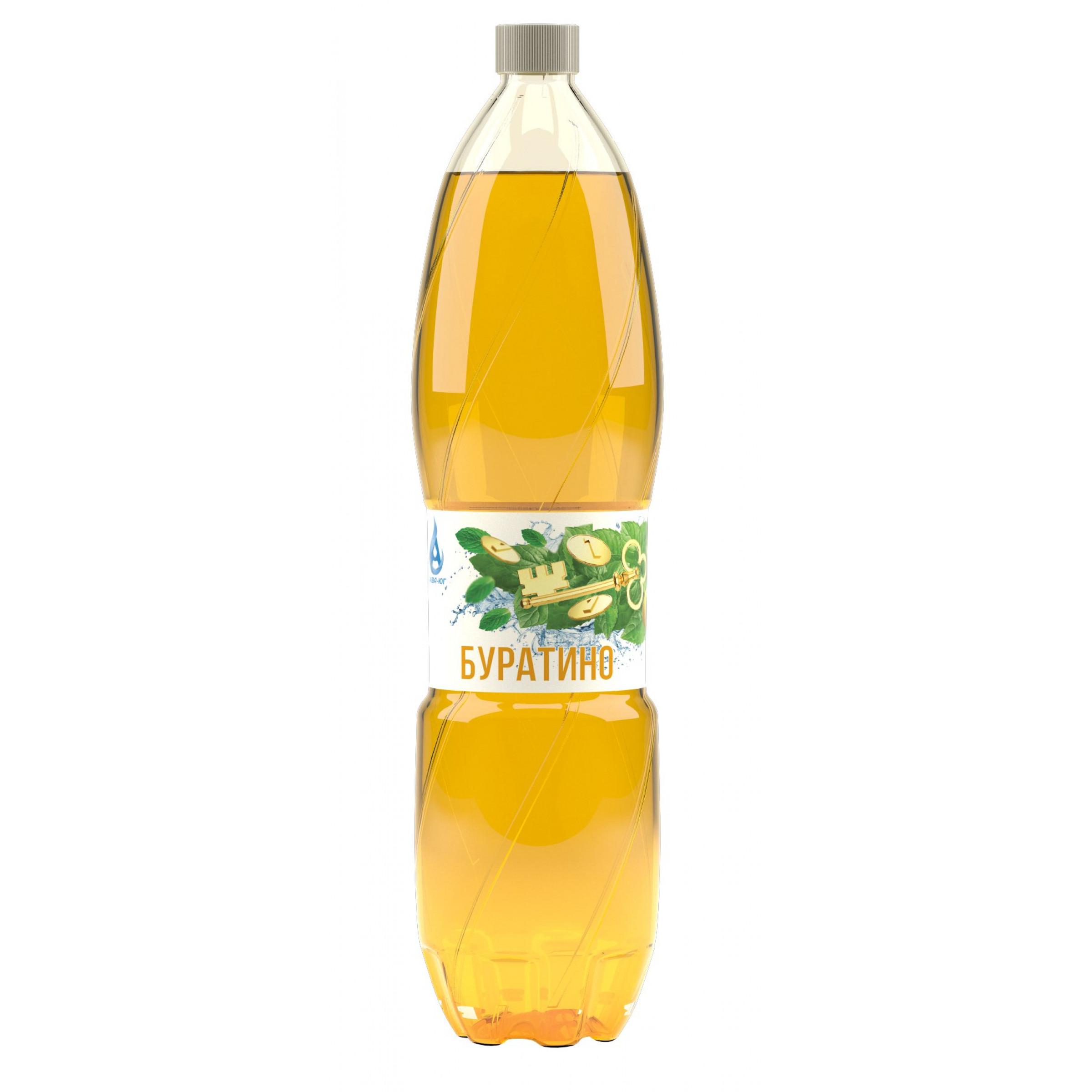 Напиток газированный БУРАТИНО Аква-Юг, 2 л