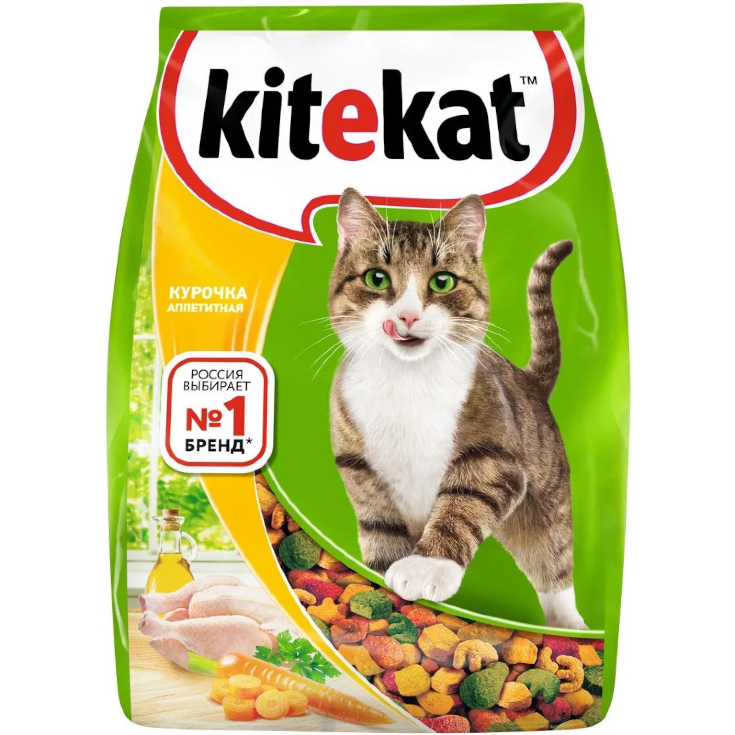"""Сухой корм для кошек """"Kitekat"""" Курочка Аппетитная, 1,9 кг"""