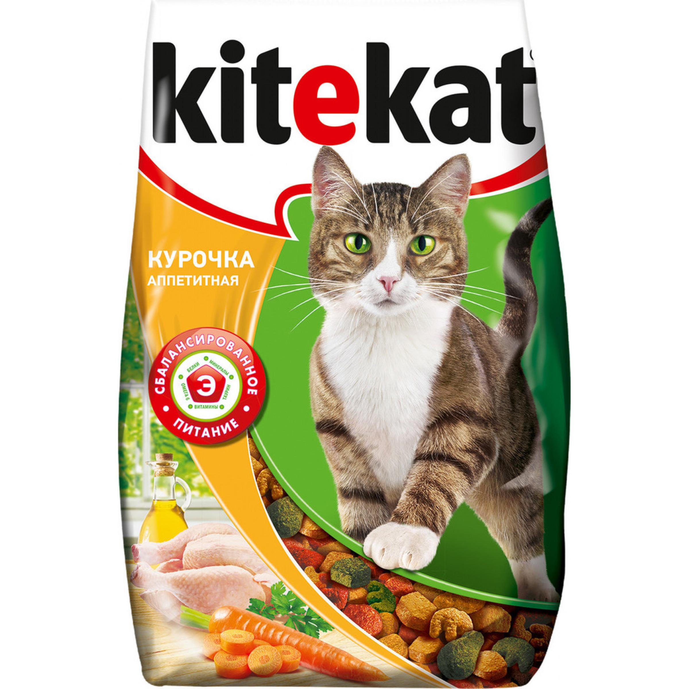 """Сухой корм для кошек """"Kitekat"""" Аппетитная курочка, 350 г"""