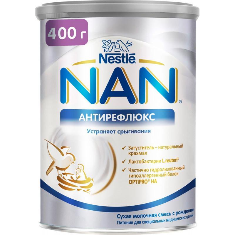 Смесь молочная NAN Nestle Антирефлюкс для детей с рождения, 400 гр