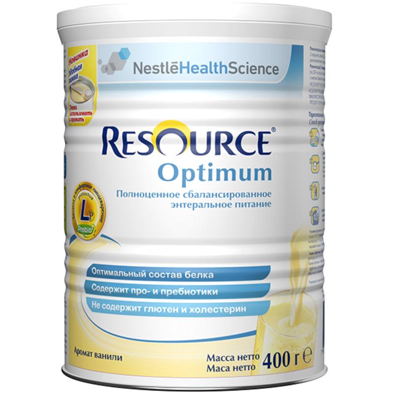 Сухая лечебная смесь Nestle Resource Optimum для детей старше 7 лет и взрослых, 400гр