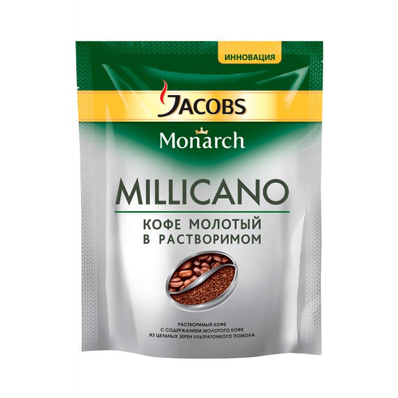 Кофе Jacobs Monarch Millicano молотый натуральный в растворимом, 75гр