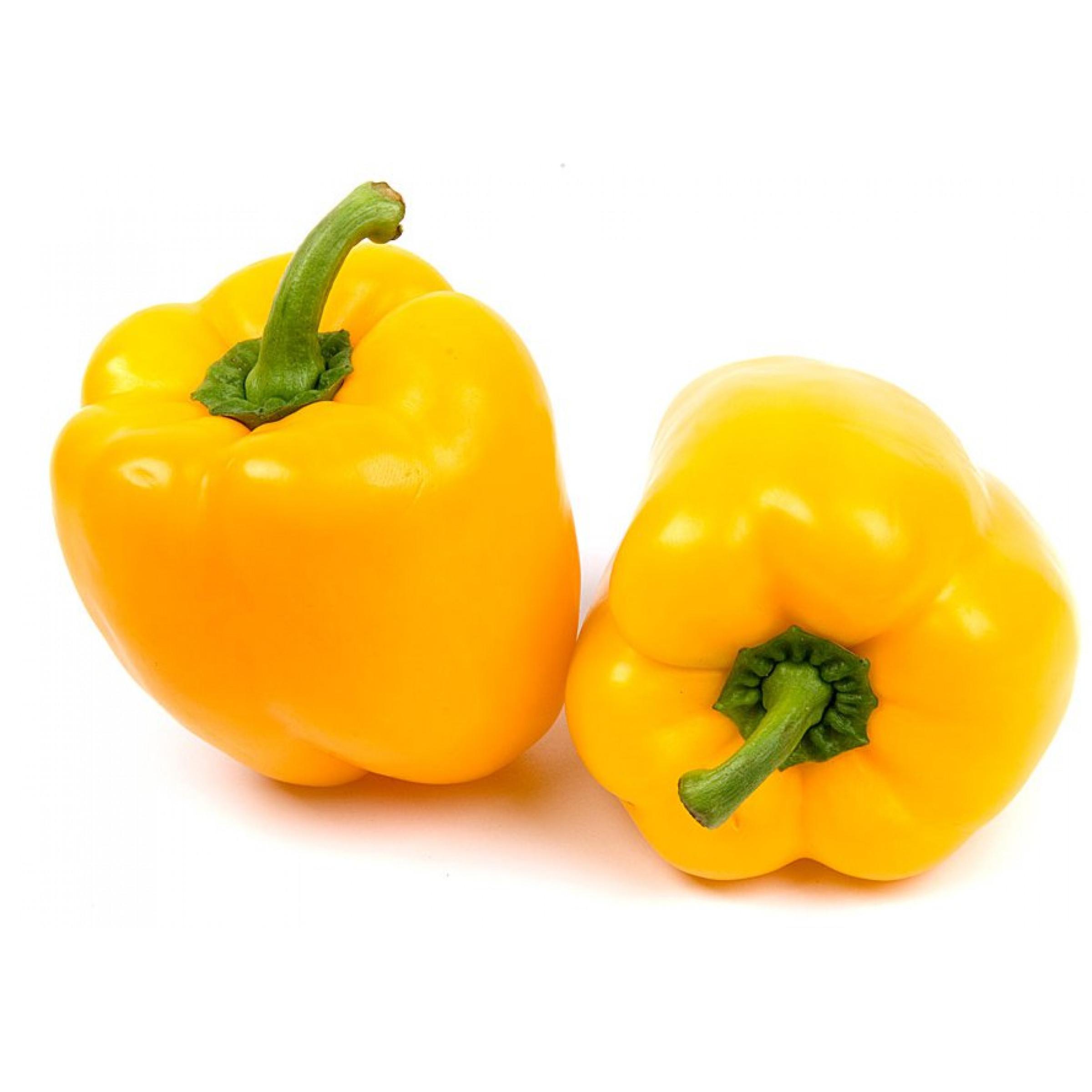 Перец болгарский желтый импортный весовой, средний вес 400 гр