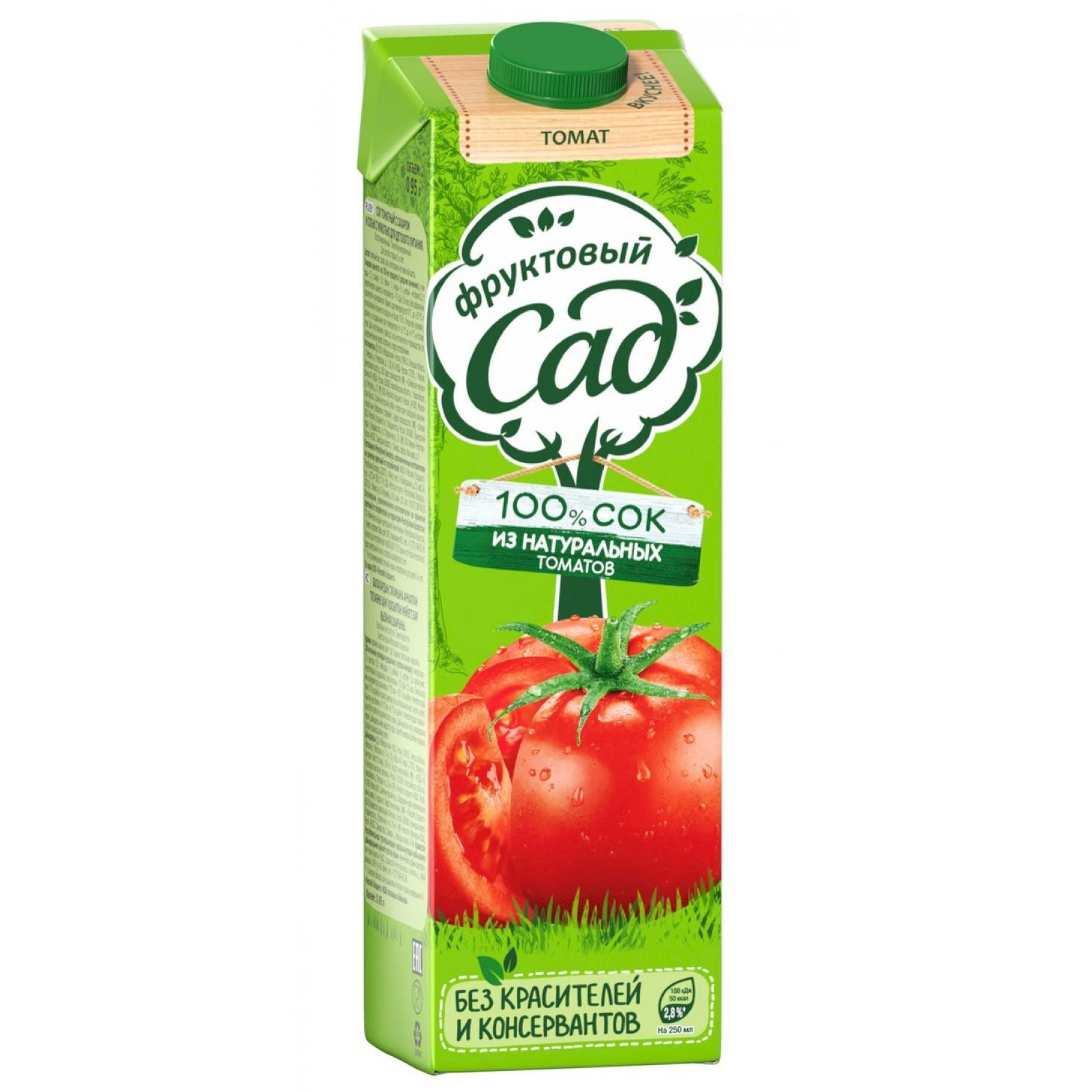 """Сок """"Фруктовый Сад"""" томатный с сахаром и солью с мякотью, 0,95 л"""