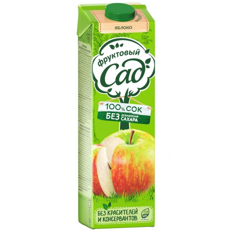 Нектар Фруктовый Сад яблочный осветленный, 0, 95л