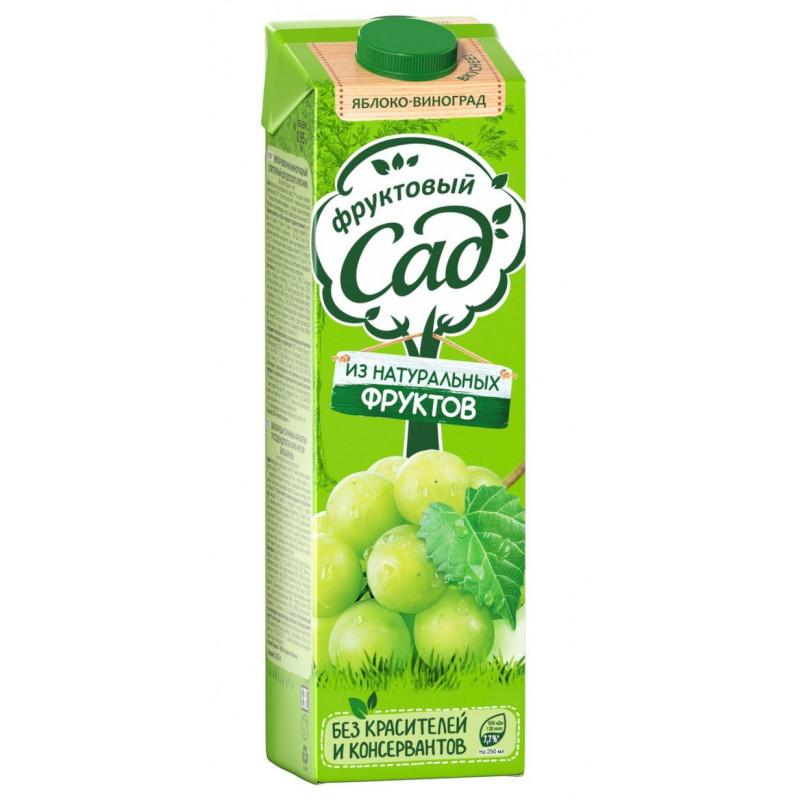 Нектар Фруктовый Сад яблочно-виноградный осветленный, 0, 95л