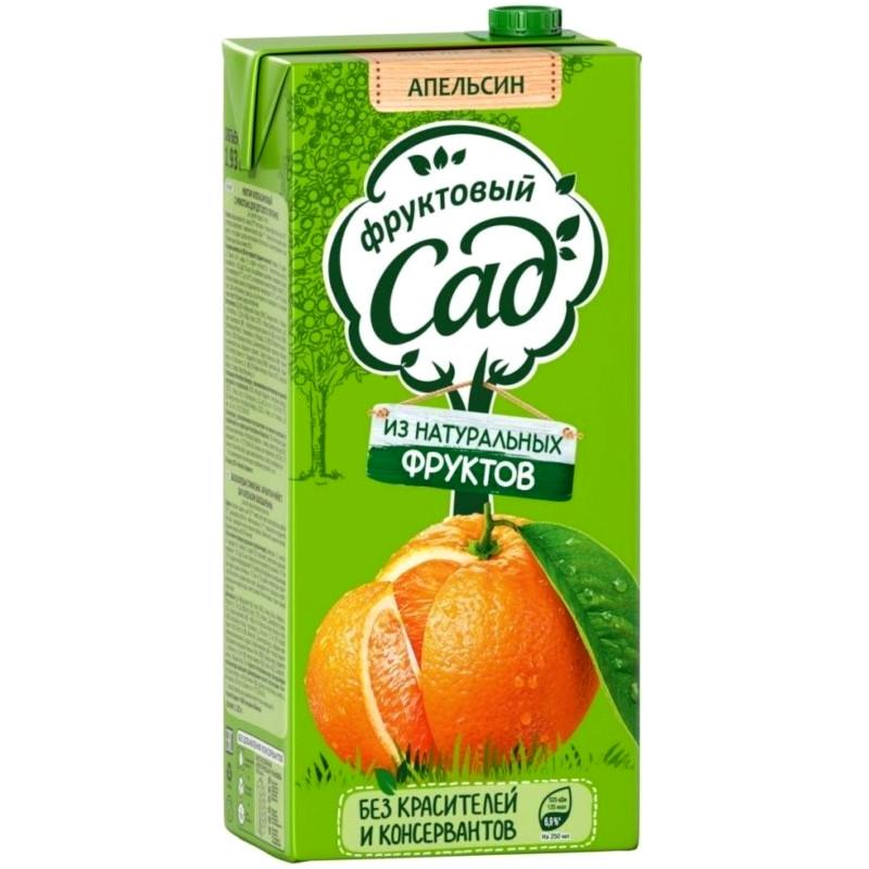 Нектар Фруктовый Сад апельсиновый с мякотью, 1, 93л