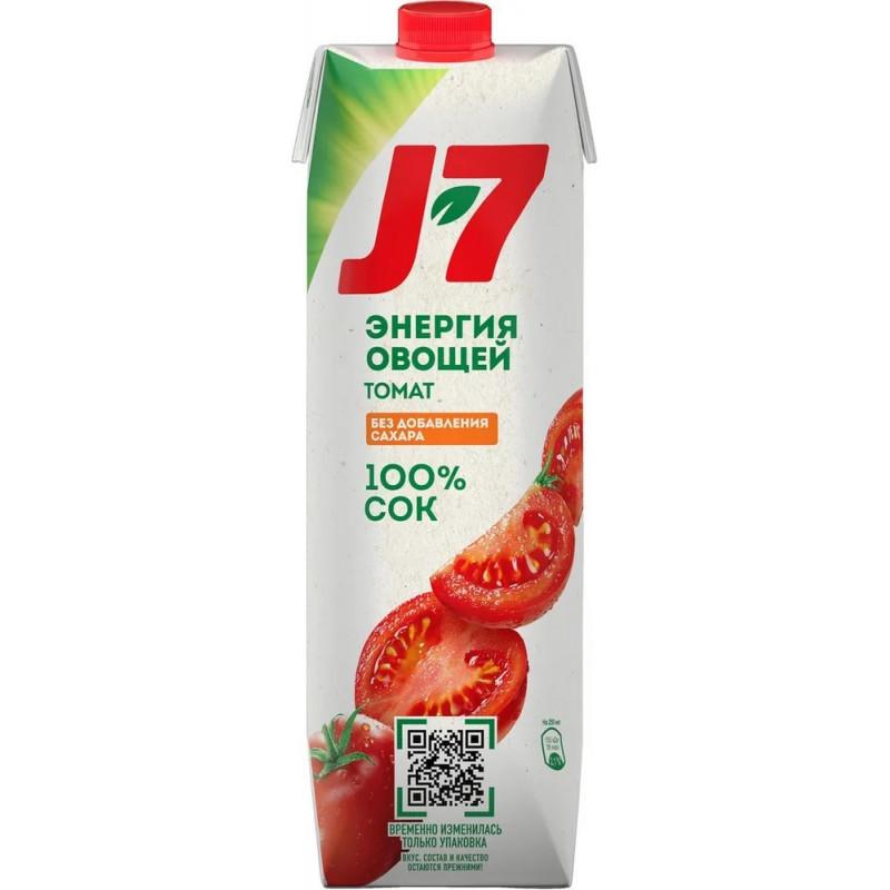 Сок J-7 томатный 100% с мякотью, 0, 97л