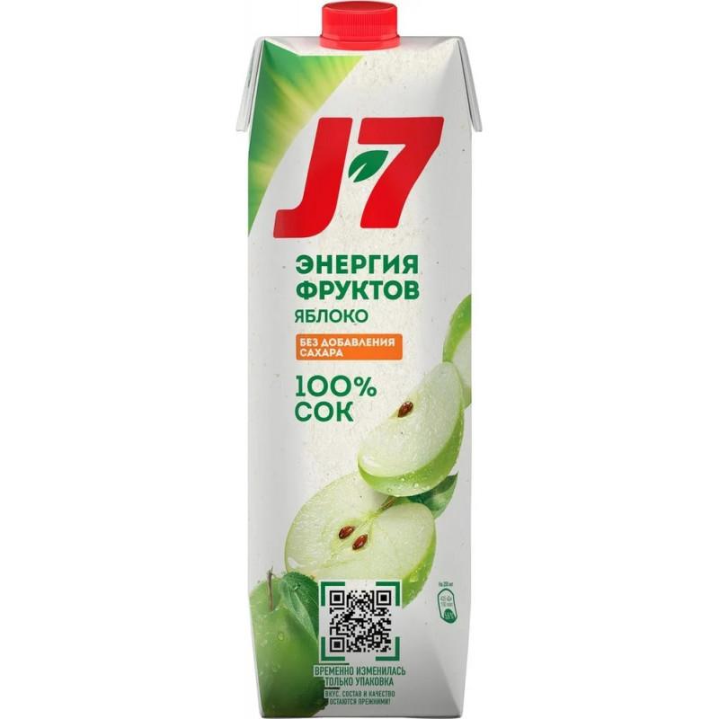 Сок J-7 Яблоко 100%, 0, 97л