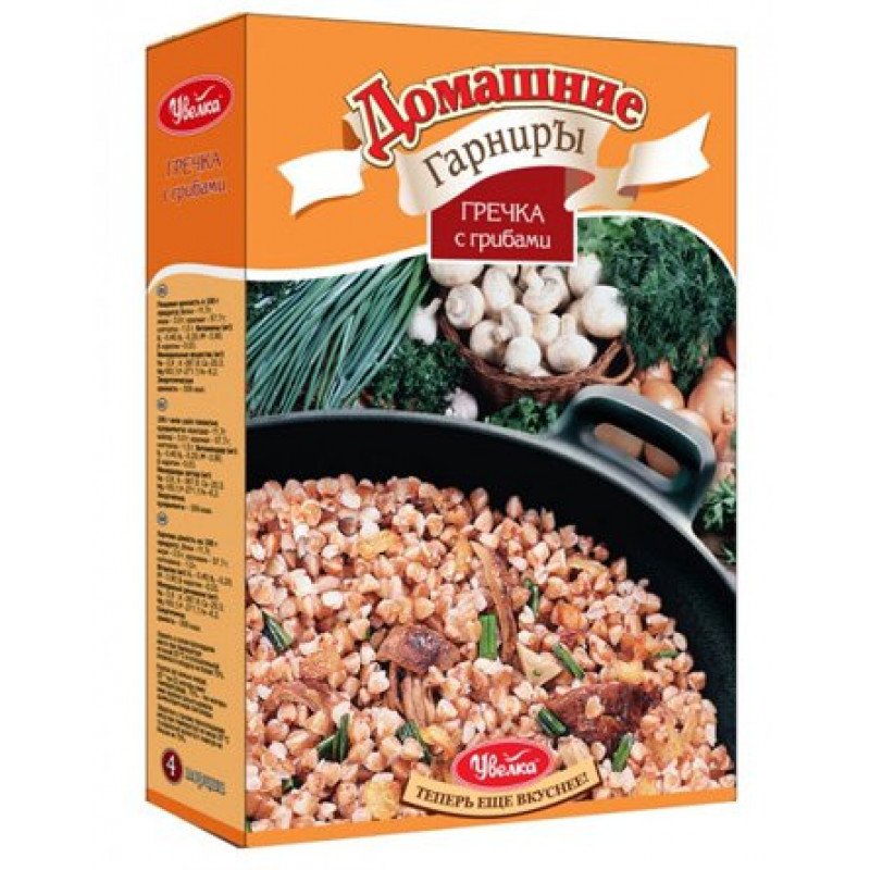 "Домашний гарнир ""Увелка"" гречка с грибами, 300гр"