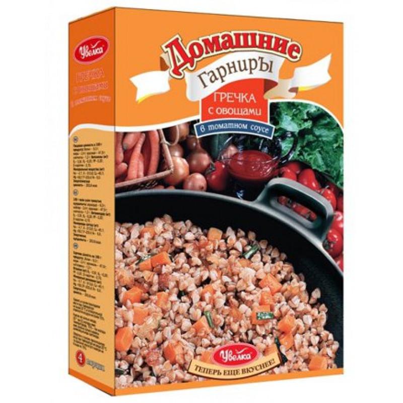 """Домашний гарнир """"Увелка"""" гречка с овощами в томатном соусе, 300гр"""