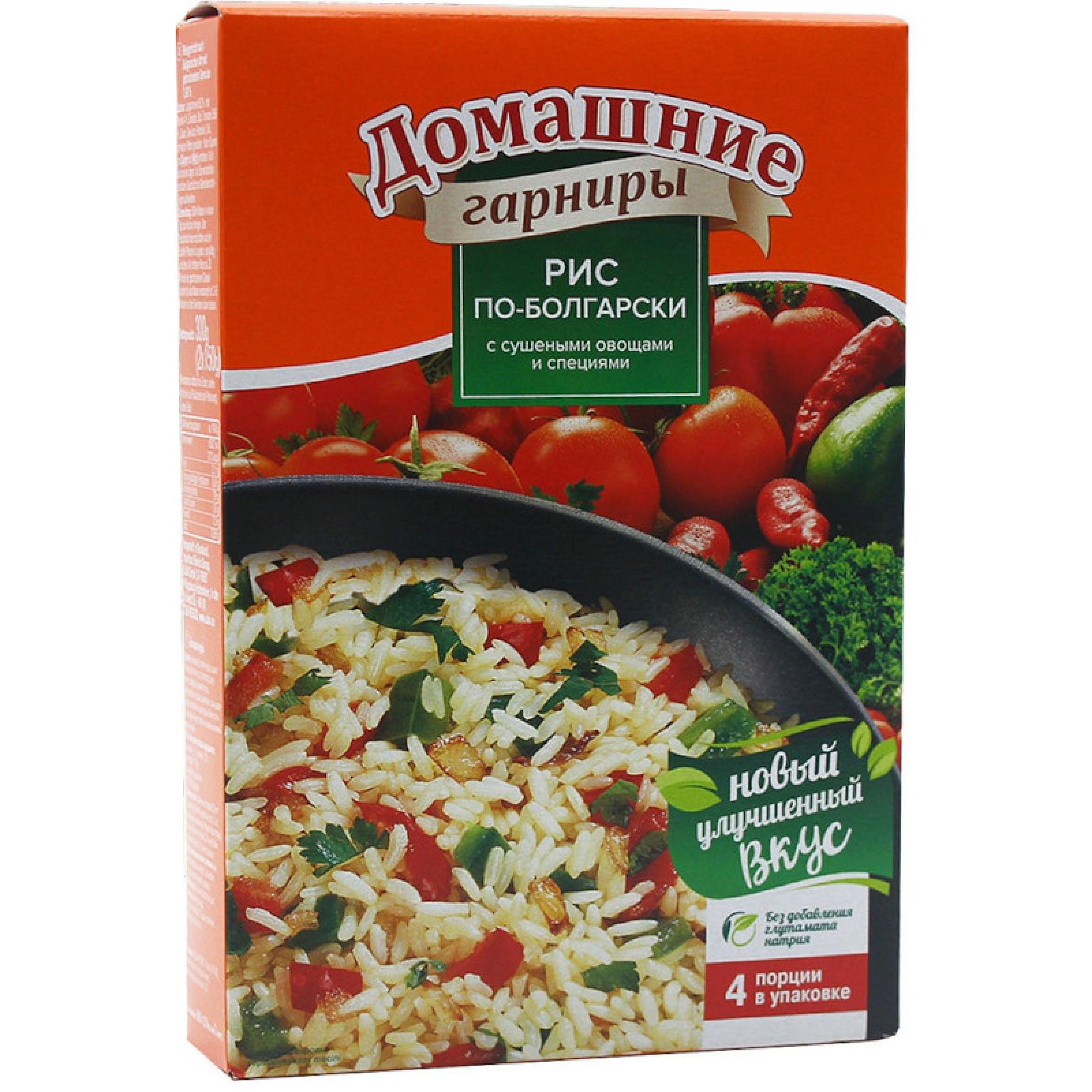 """Домашний гарнир """"Увелка"""" рис по-болгарски, 300гр"""