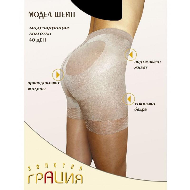 Колготки женские моделирующие Грация Модел шейп 40den цвет черный 3 размер, 1шт