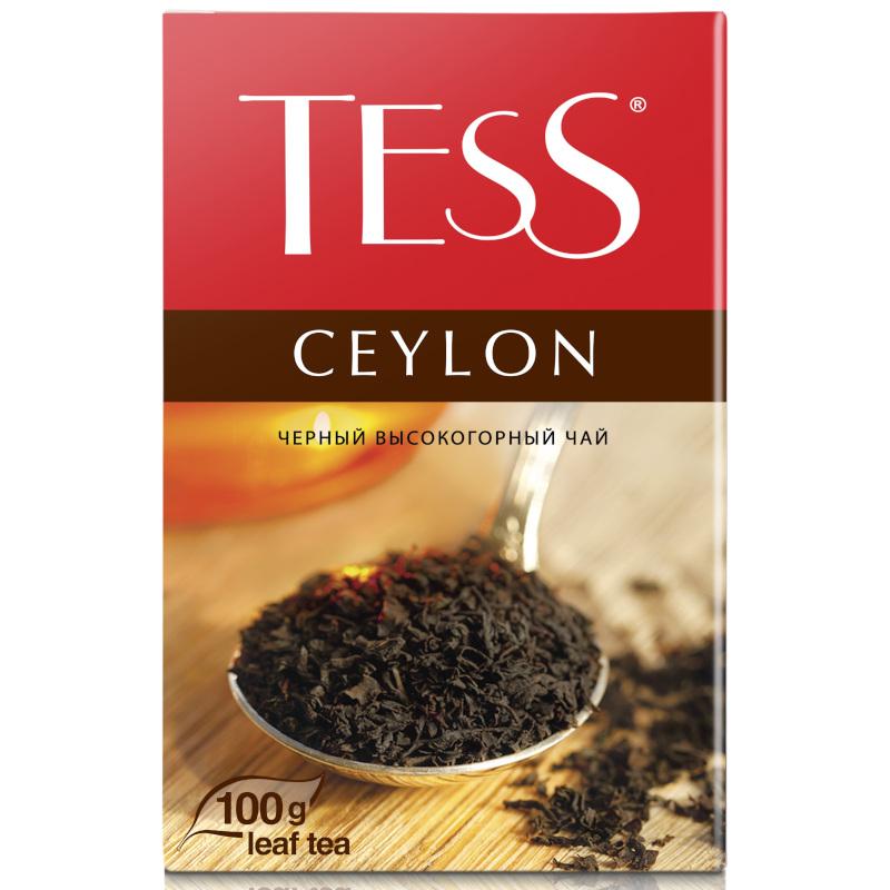 """Чай черный Tess """"Цейлон"""" листовой, 100гр"""