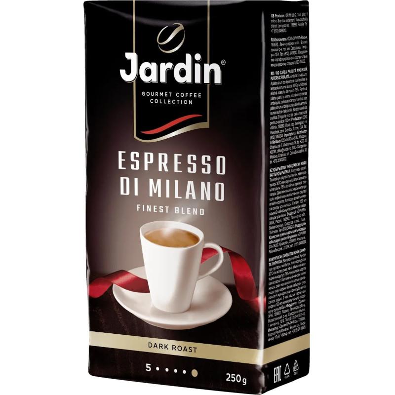 Кофе молотый Jardin Espresso Stile di Milano натуральный жареный, 250гр