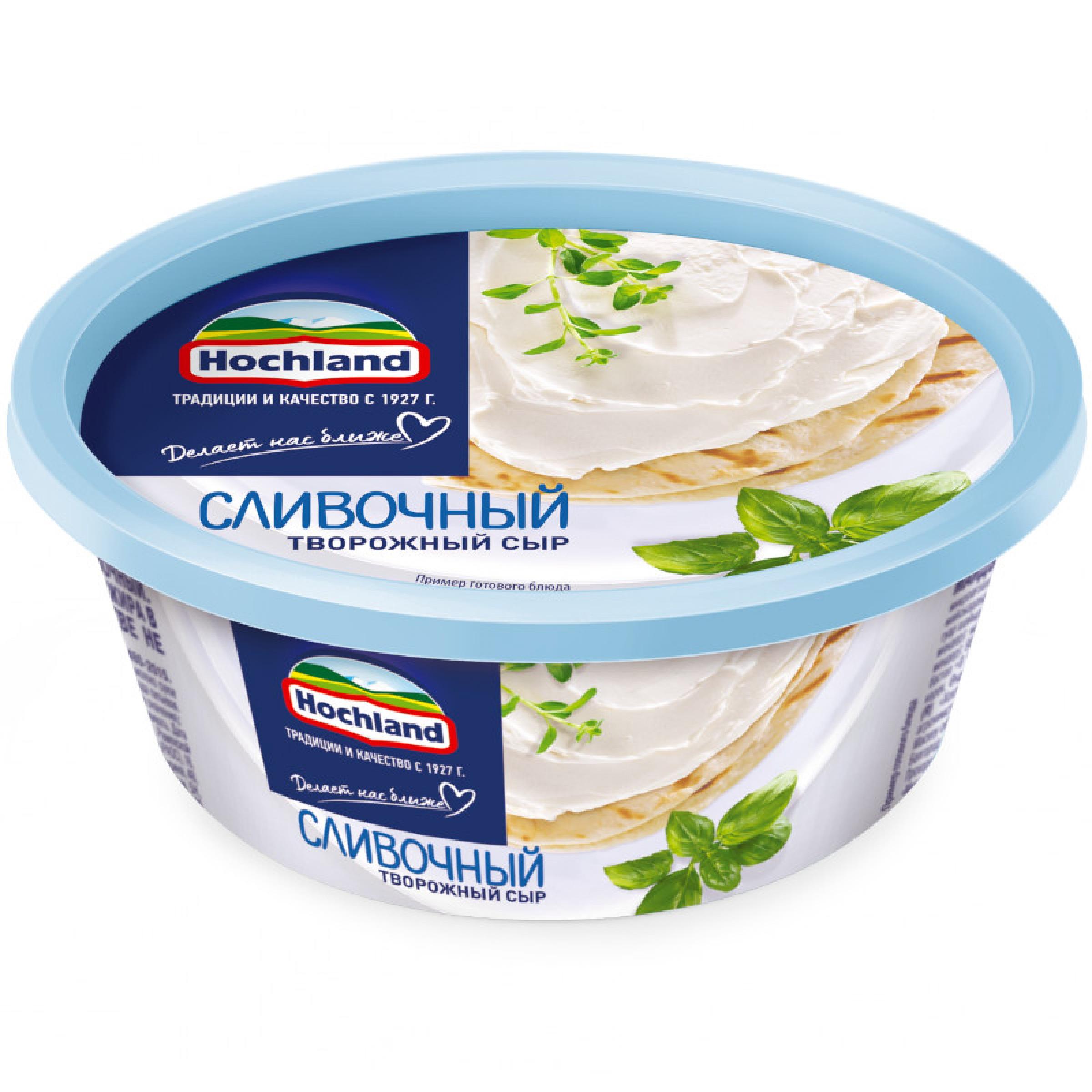 Сыр Hochland творожный Сливочный 60%, 140гр