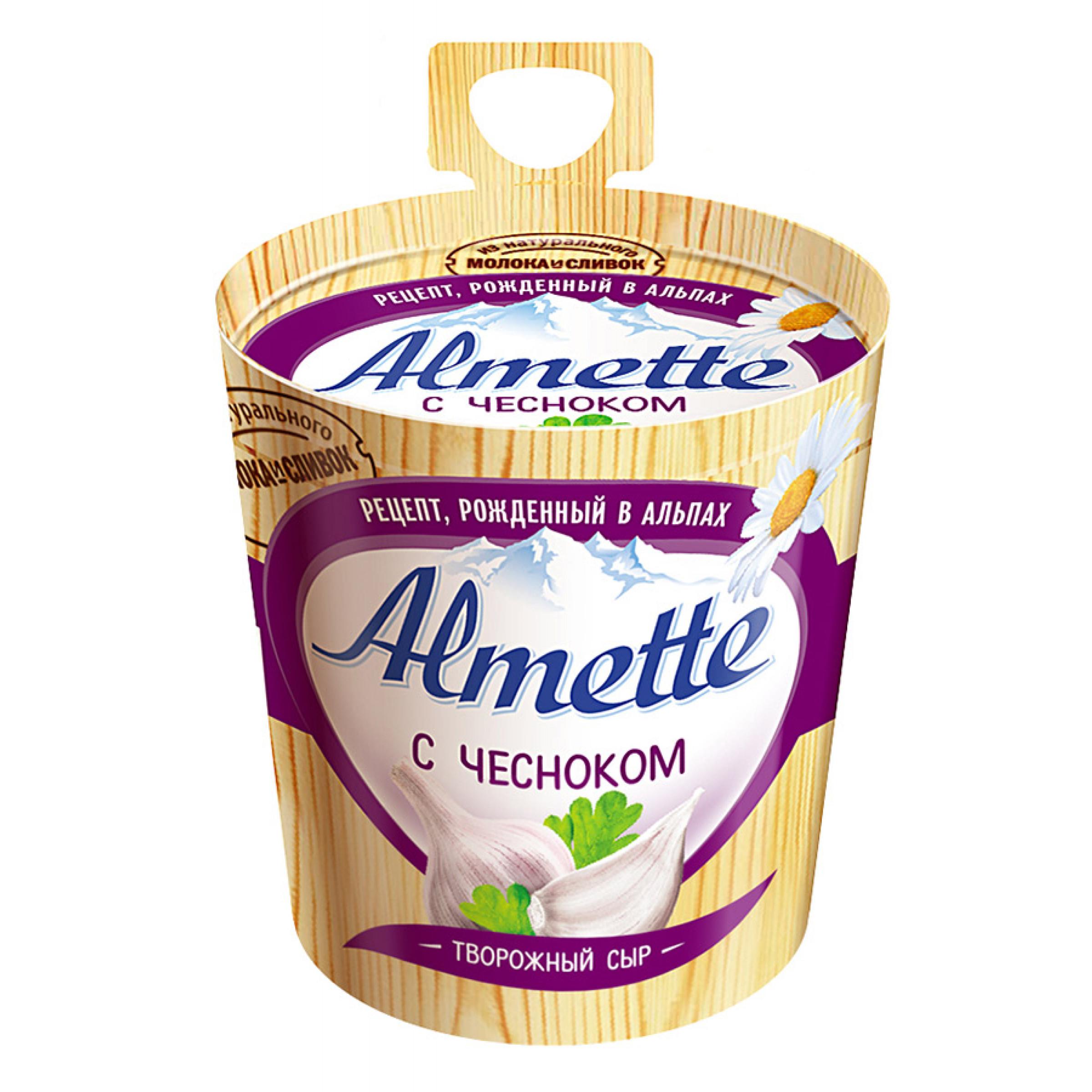 """Сыр """"Almette"""" 60% творожный с чесноком, 150гр."""