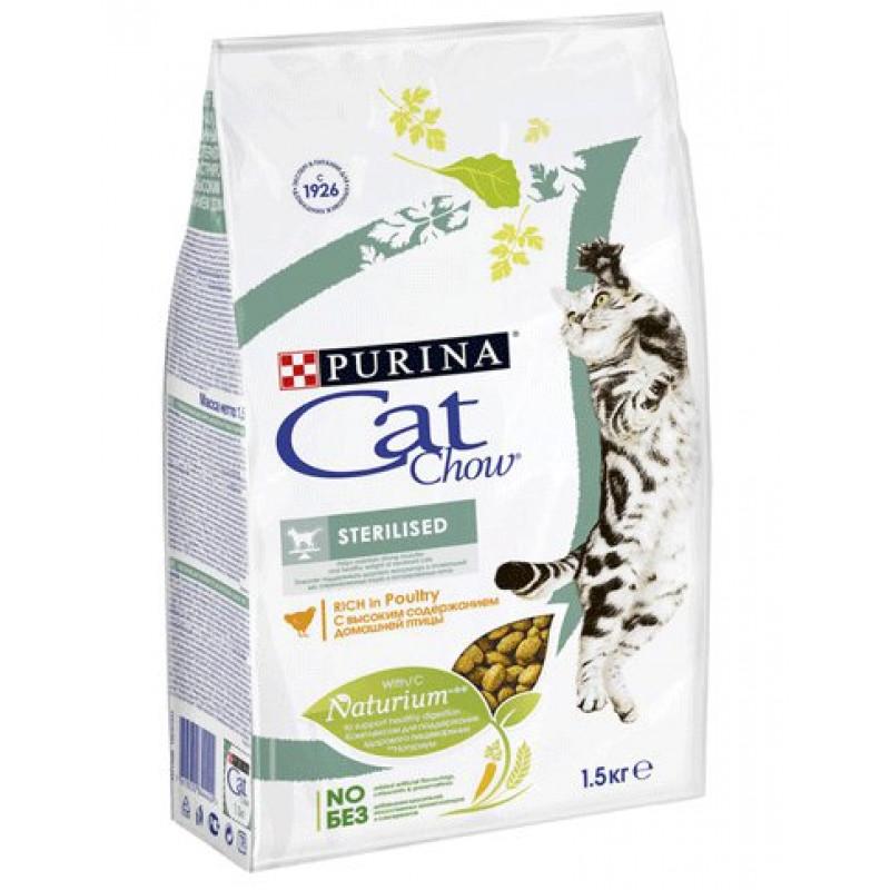 Сухой корм для стерилизованных котов CAT CHOW