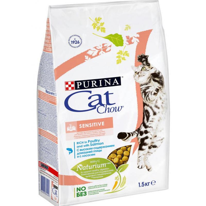 Сухой корм для кошек с чувствительным пищеварением CAT CHOW