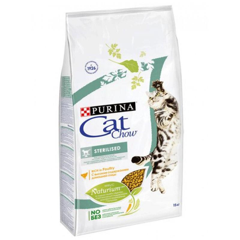 Сухой корм для стерилизованных кошек и кастрированных котов CAT CHOW SPECIAL CARЕ, 15 кг