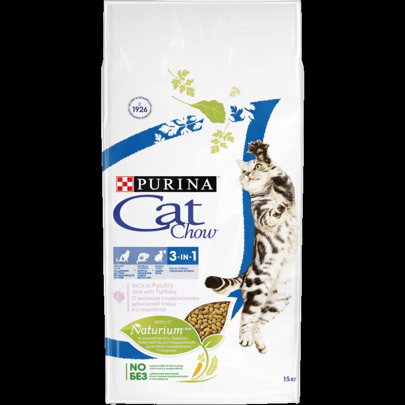 Сухой корм для кошек CAT CHOW FELINE 3IN1