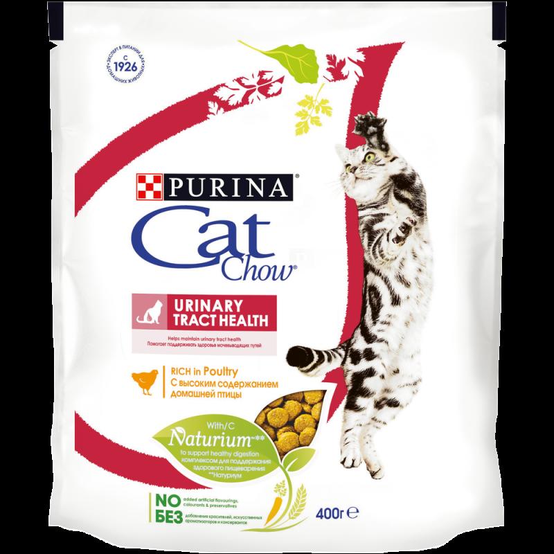 Сухой корм Cat Chow® для здоровья мочевыводящих путей с домашней птицей,  400 гр