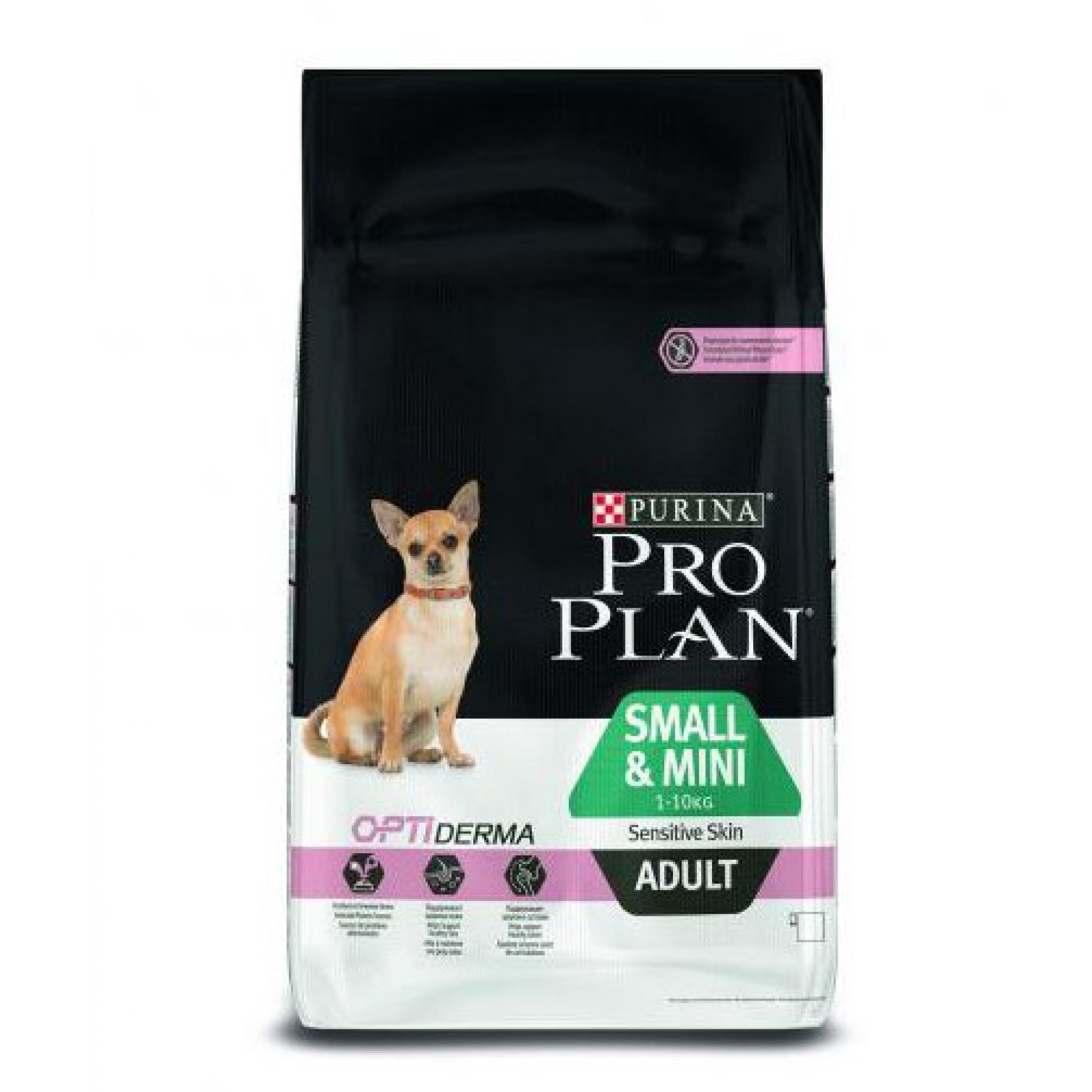 Сухой корм для собак мелких пород с чувствительной кожей PRPN ADLSMLMN, ягненок, 3кг.