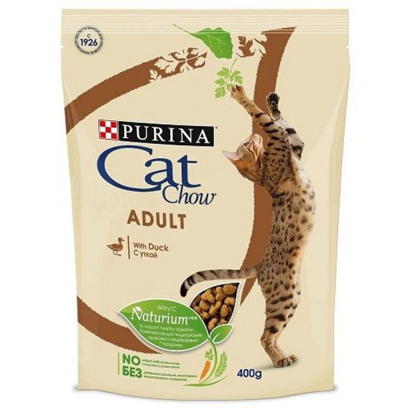 Сухой корм для взрослых кошек CAT CHOW ADULT с уткой