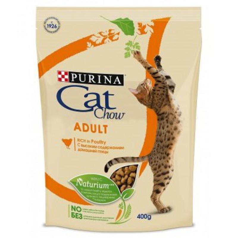 Сухой корм для взрослых кошек CAT CHOW ADULT с домашней птицей