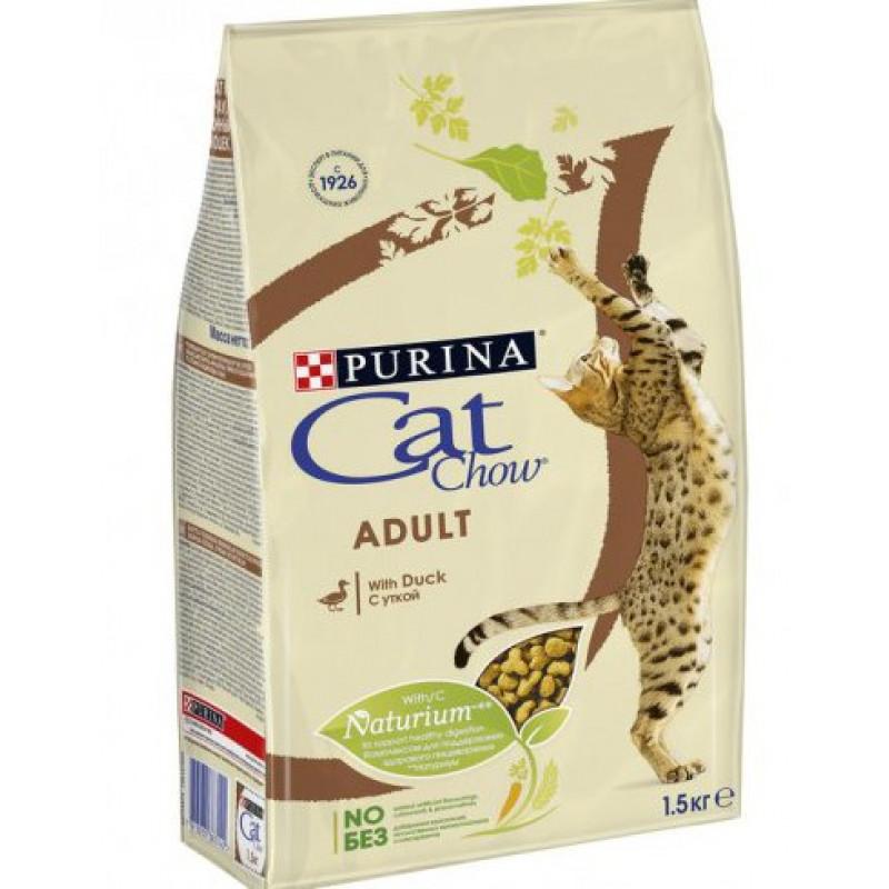 Сухой корм для взрослых кошек CAT CHOW утка